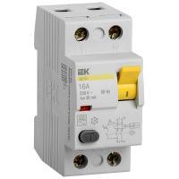 Выключатель дифференциальный (УЗО) IEK ВД1-63 2Р 16А 30мА