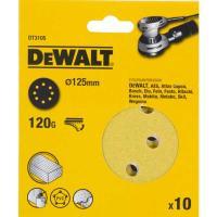 Шлифовальные круги DeWALT DT3105, 125 мм, 8 отверстий, 120G, 10 шт.