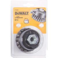 Чашечная щетка DeWALT DT3500, пучки витая проволока 65 x 18 мм x M14