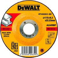 Круг обдирочный по металлу DeWALT DT42220Z, INDUSTRIAL, 115 x 22.2 x 6.3 мм, тип 27